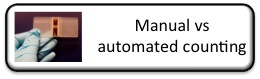 Automated or manual cell counting